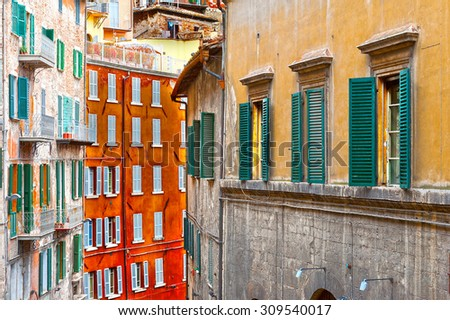 View to Historic Center City of Perugia in Italy - stock photo