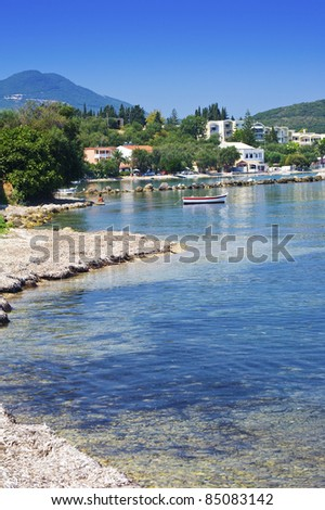 View to Messonghi, Corfu, Greece - stock photo