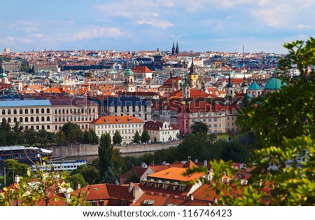 View to Praha - Czech republic - stock photo