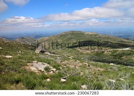 View to Serra da estrella country, Portugal - stock photo