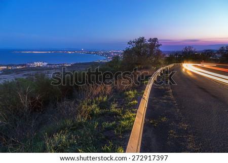 View to Sunny Beach - stock photo
