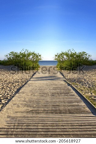 View to the sea, landscape. - stock photo