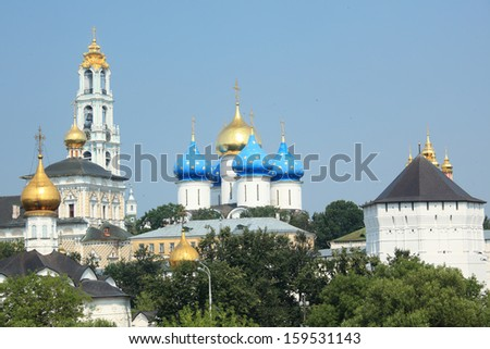 View to Trinity Lavra of St. Sergius in Sergiyev Posad, Russia - stock photo