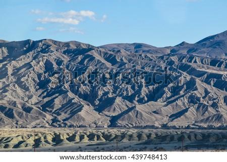 Viewing the Sierra Nevada desert  Mountains - stock photo