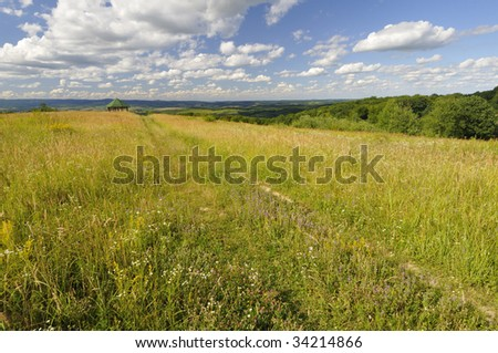 Viewpoint on the hill - stock photo