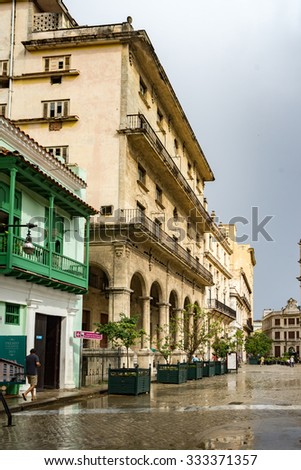Views around Havana on  the Caribbean Island of Cuba - stock photo