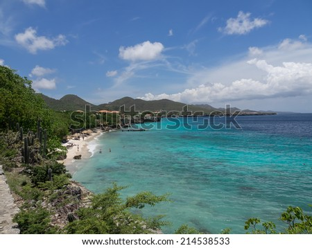 Views around Westpunt and Wataluma Curacao a Caribbean Island Netherland Antilles - stock photo