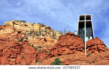 Views from Sedona, Arizona / Mountain Chapel - stock photo