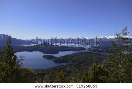 Views of Nahuel Huapi National Park, San Carlos de Bariloche, Patagonia, Argentina - stock photo