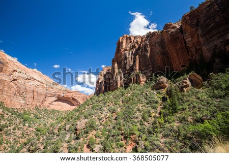 Views of the Zion National Park, Utah - stock photo