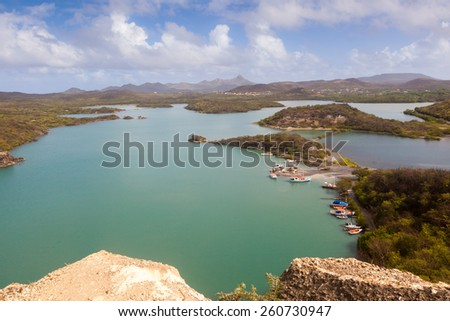 Views  on the Caribbean Island of Curacao Dutch Antilles - stock photo