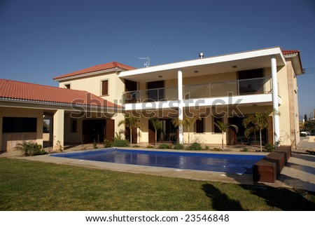 Villa - stock photo