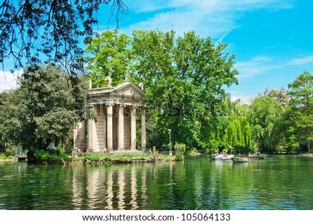 Villa Borghese Pinciana, Pincian Hill, Rome, Italy - stock photo