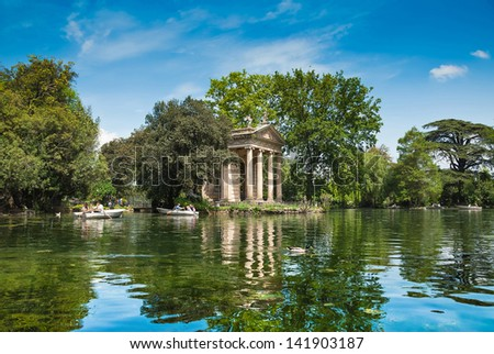 Villa Borghese Pinciana, Pincian Hill, Rome, Italy - stock photo