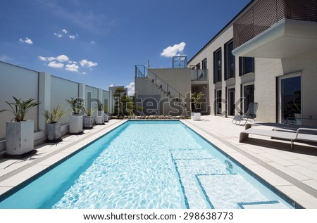 Villa with swimming pool-6 - stock photo