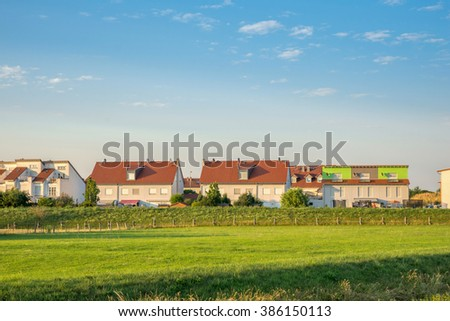 Village, Country, Townhouses - stock photo