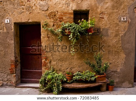 Village home in Tuscany - stock photo
