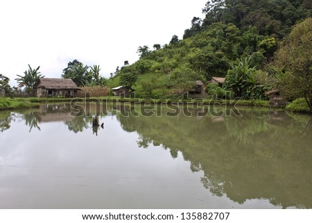 Village in Laos - stock photo