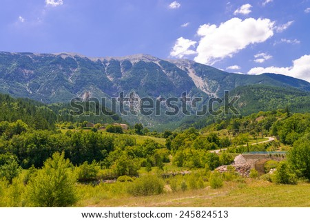 village in provence - stock photo