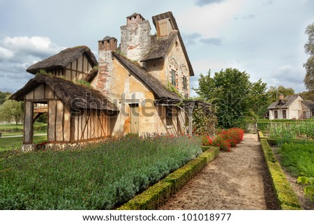 village of Marie Antoinette at Versailles, France - stock photo