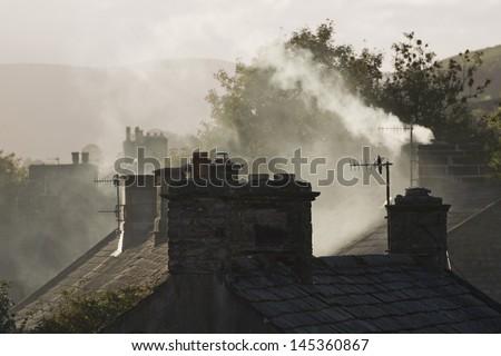 Village Yorkshire Dales Yorkshire England - stock photo