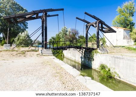 Vincent van Gogh bridge near Arles, Provence, France - stock photo