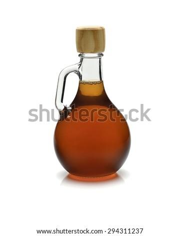 vinegar glass on white background - stock photo