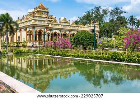 Vinh Tranh Pagoda in My Tho, the Mekong Delta, Vietnam - stock photo