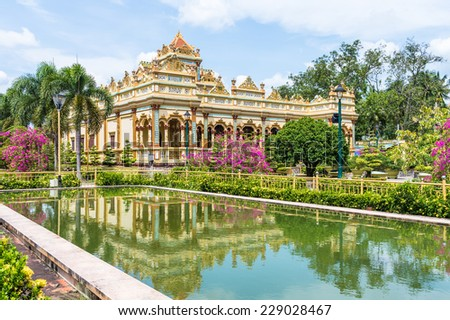 Vinh Tranh Pagoda in My Tho, the Mekong Delta, Vietnam - stock photo