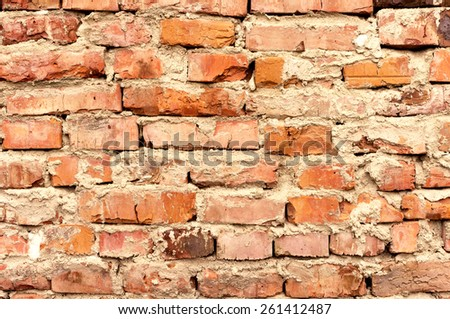 Vintage abstract background of brick wall - stock photo