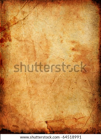 Vintage aged old paper. Original background or texture. - stock photo