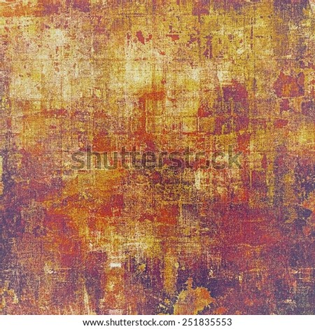 Vintage aged texture, colorful grunge background with space for text or image. With different color patterns: yellow (beige); red (orange); purple (violet); pink - stock photo