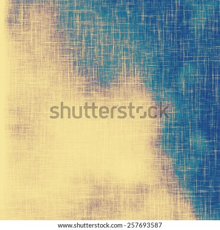 Vintage aged texture, colorful grunge background with space for text or image. With different color patterns: yellow (beige); cyan; blue - stock photo