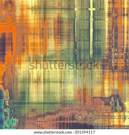 Vintage aged texture, colorful grunge background with space for text or image. With different color patterns: yellow (beige); brown; green; red (orange) - stock photo