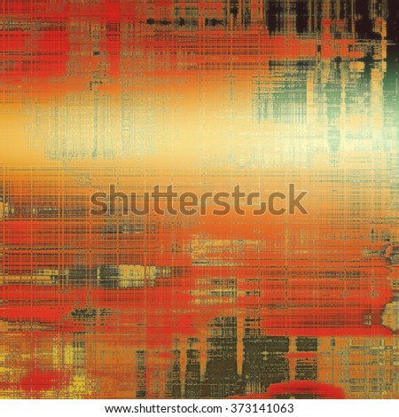 Vintage aged texture, colorful grunge background with space for text or image. With different color patterns: yellow (beige); brown; red (orange); green; black - stock photo