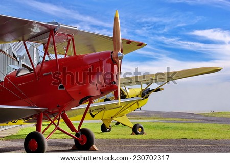 Vintage aircraft from the past - stock photo