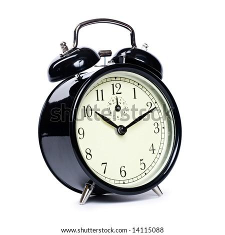 Vintage alarm clock - stock photo