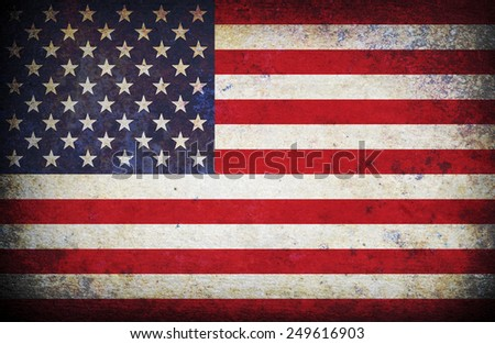 Vintage American Flag - stock photo