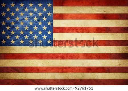 Vintage American Flag - stock photo