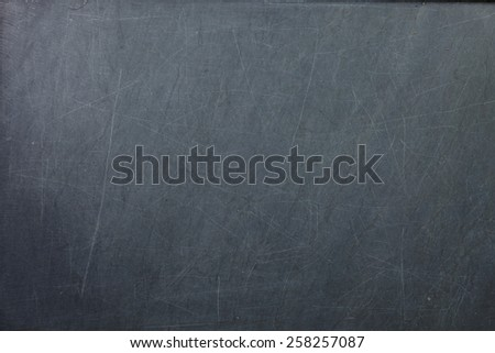 Vintage and old slate blackboard represent the teaching equipment related. - stock photo