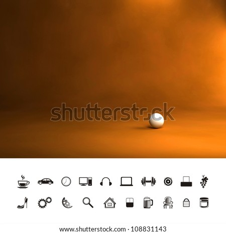 Vintage antique orange brown background. - stock photo