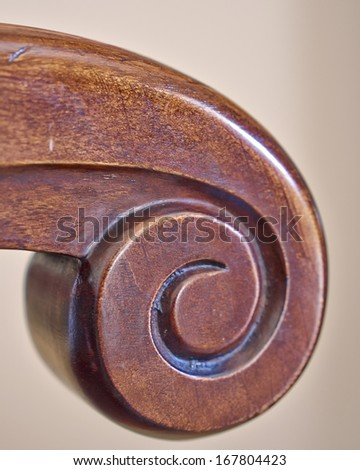 vintage armchair closeup - stock photo