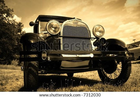 Vintage Automobile - stock photo