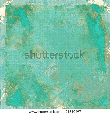 Vintage background in scrap-booking style, faded grunge texture with different color patterns: yellow (beige); brown; blue; gray; cyan - stock photo