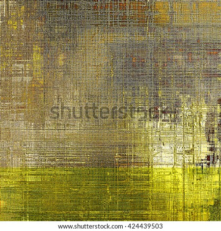 Vintage background in scrap-booking style, faded grunge texture with different color patterns: yellow (beige); brown; gray; black - stock photo