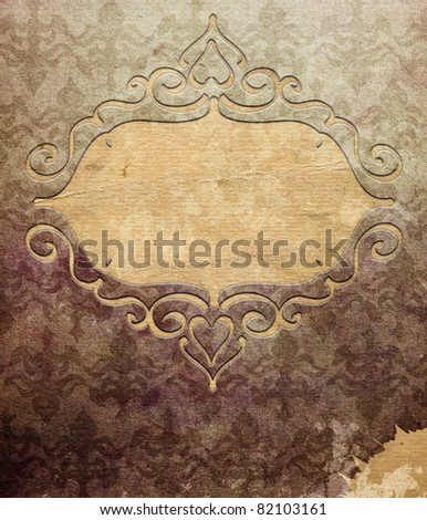 Vintage background (invitation template) - stock photo