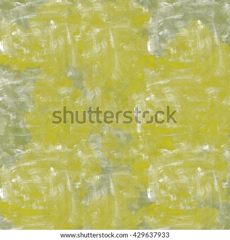 Vintage background. Old paint smudge. Cracked plaster. Yellow-gray color. The texture of tempera. Smeared paint, plaster. Grunge background. Grunge wall - stock photo