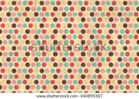 vintage background, polka dot style, retro - stock photo