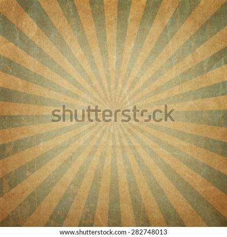 Vintage background  rising sun or sun ray,sun burst retro paper background  - stock photo