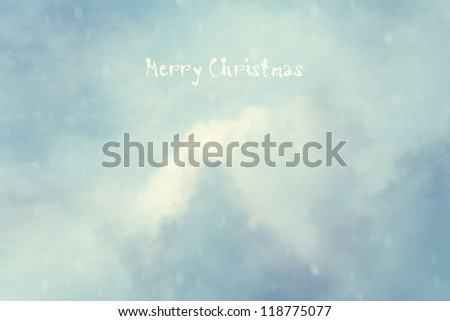 Vintage background with fantasy clouds. Christmas card - stock photo